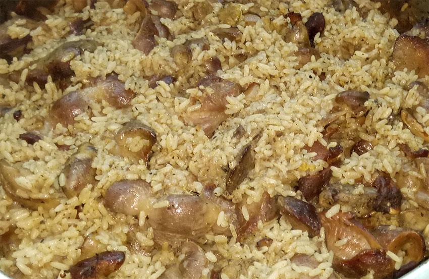 Συκωτάκια με ρύζι