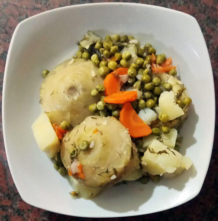 Αρακάς με αγκινάρες συνταγή